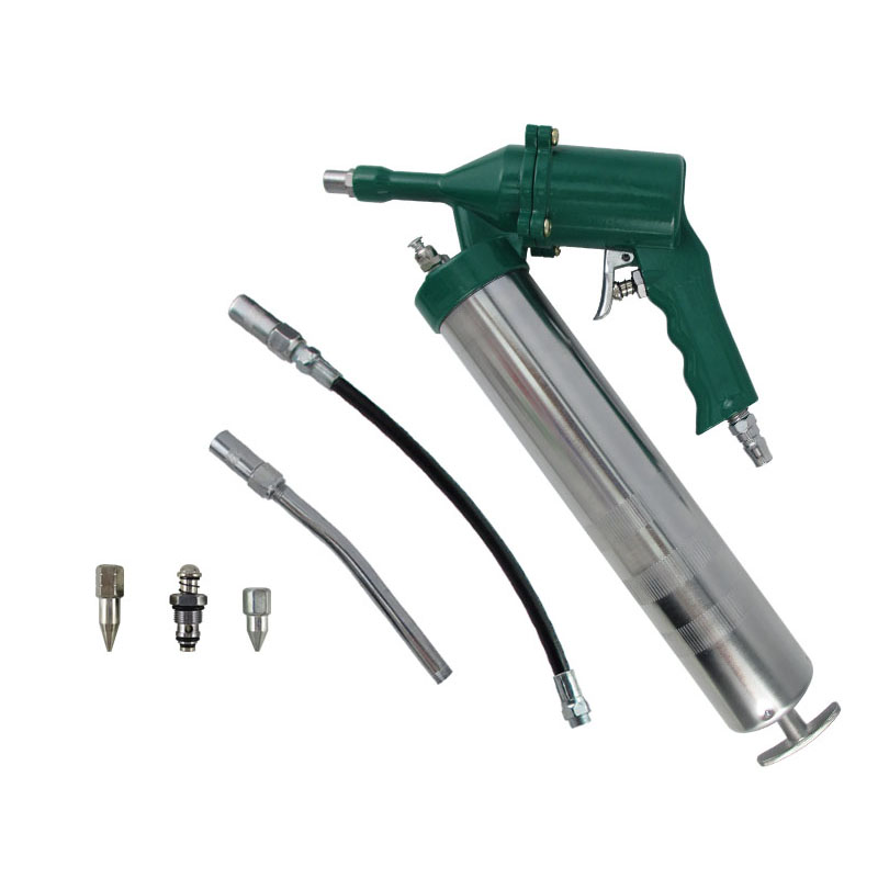 high quality Professional 400CC Pneumatic Grease Gun Repeating Air Operated Grease Gun Tool