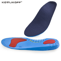 Unisex PU Athletic Comfort Insoles With Shock Absorption Pads Daily Wear Work Shoes Inserts Arch Support
