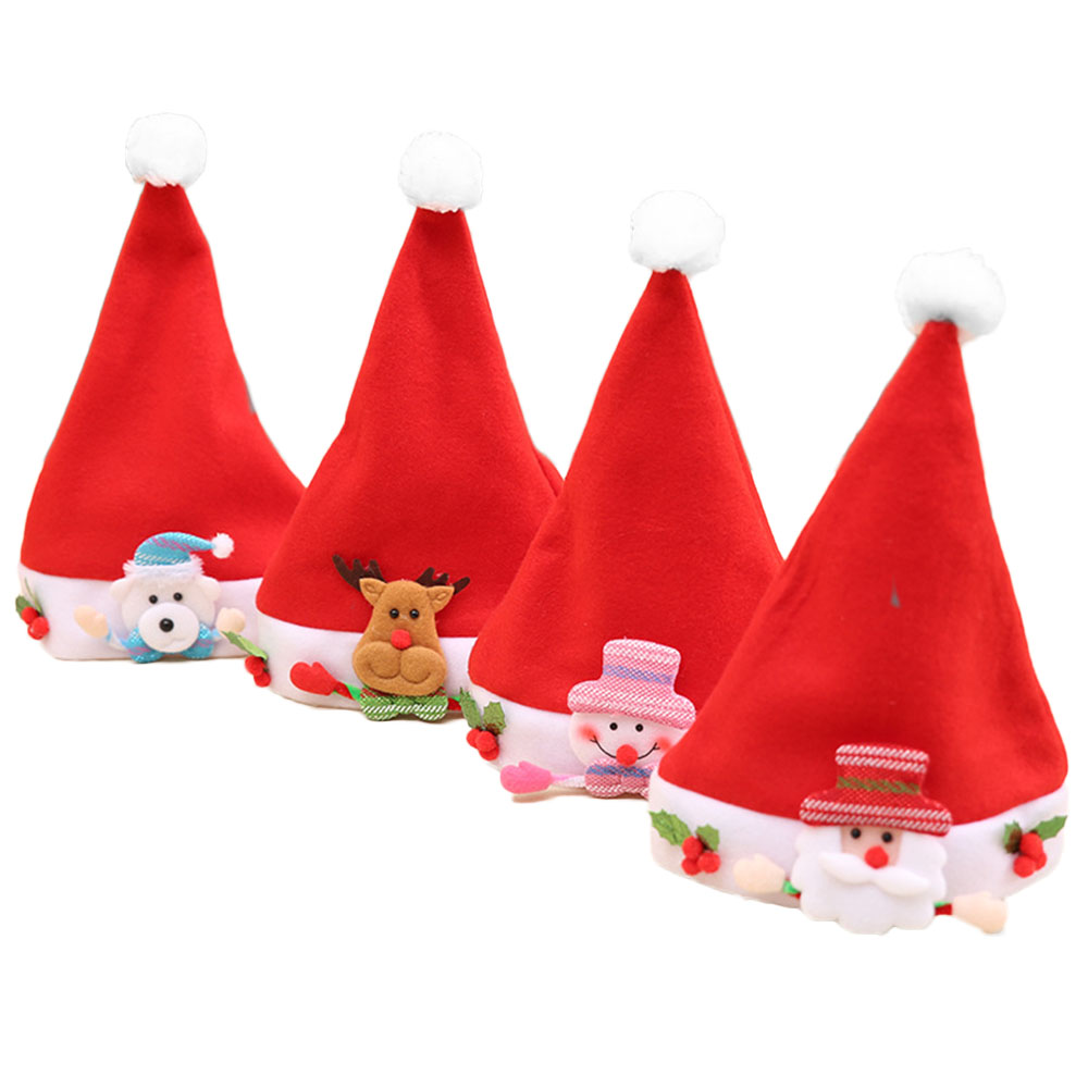 Home & Garden Open-Minded Christmas Flannelette Snowman Santa Claus Elk Bear Hat Festive Xmas Kid Baby Cap The Latest Fashion