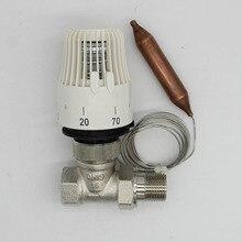 省エネ30 70度制御床暖房システムサーモスタットラジエーターバルブm30 * 1.5リモートcontrolle 2wayストレートバルブ