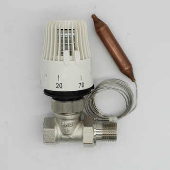 Energy saving 30-70 degree control Floor heating system thermostatic radiator valve M30*1.5 Remote controlle 2way Straight valve - DISCOUNT ITEM  11% OFF All Category