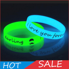 Unisex Led Silicone Rubber Bracelet Cuff Wristband 12mm Glow Flash Bangle For Party Wrist Band Event Supplies Wedding Decoration(China)