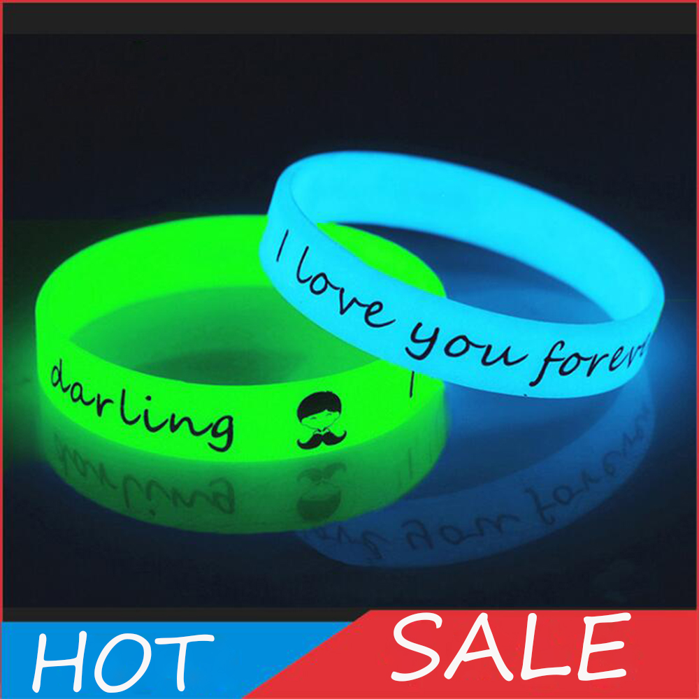 Unisex Led Silicone Rubber Bracelet Cuff Wristband 12mm Glow Flash Bangle For Party Wrist Band Event Supplies Wedding Decoration