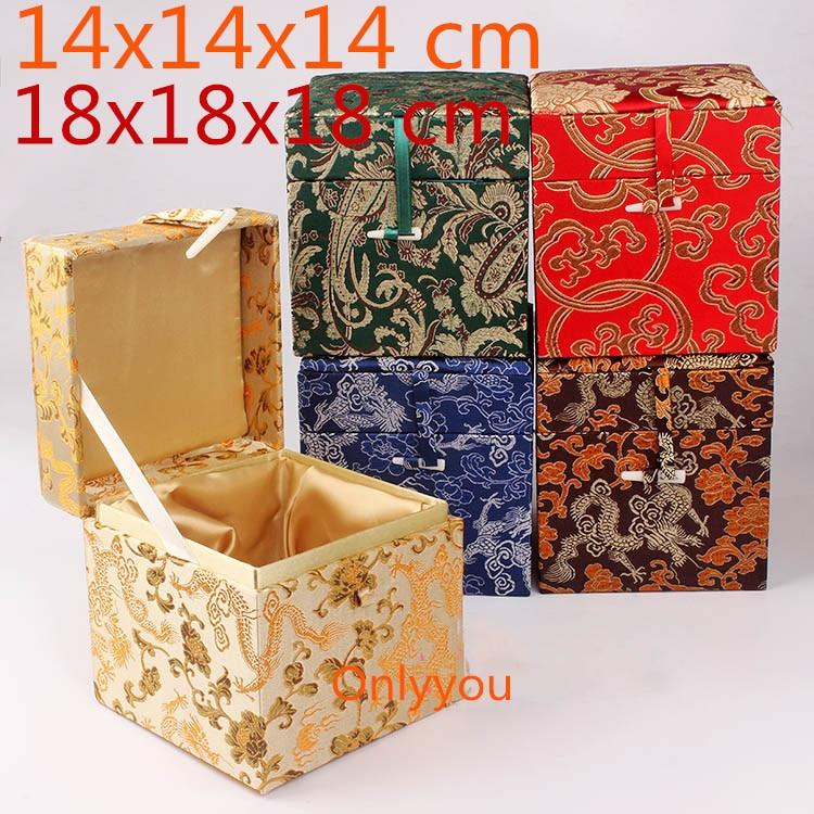 Лучший!  Роскошный Квадрат Большой Деревянный Шкатулка Металлический Урожай Куб Коробка Для Хранения