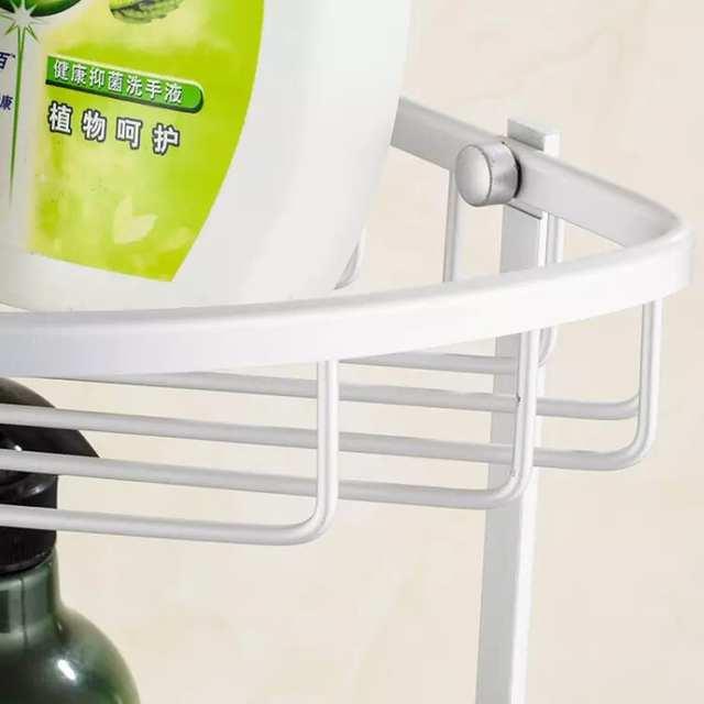 US $5.82 29% OFF|Shower Caddy Bathroom Corner Shelf Storage Basket Holder  Decor Aluminum Storage etagere salle de bain murale repisa-in Bathroom ...