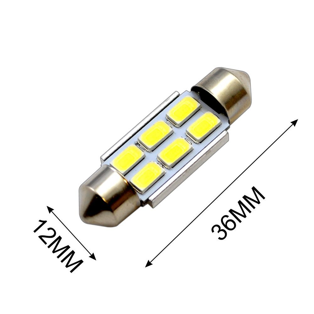 Extremely Bright White 300lms 2835SMD LED Festoon Bulbs Car Interior License Plate Courtesy Door Lights 36mm 6411 DE3423