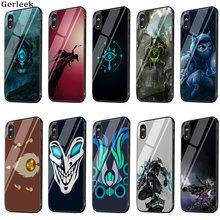 Tempered Glass Case League Of Legends Game Colored Drawing Cover For iPhone 6 6s 7 8 X XS XR Max 5 5s SE Shell(China)