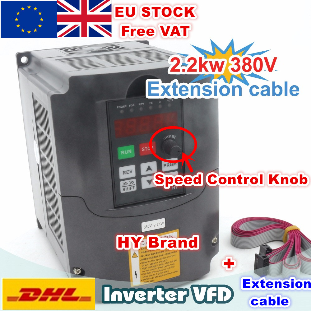 [EU Delivery/Free VAT] <font><b>2.2KW</b></font> 380V VFD 6A Spindle <font><b>Inverters</b></font> Vector Control Frequency Converter 3HP Input image