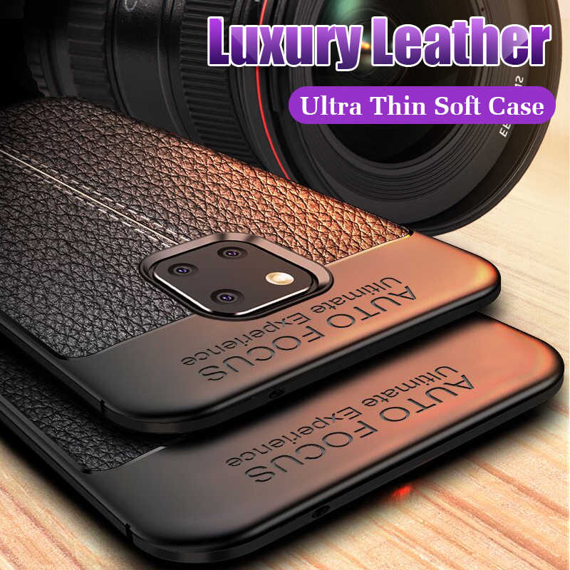 Luxury Ultra Thin Leather Soft Case For Huawei Mate 10 20 P30 Pro Shockproof Case Cover For Huawei P30 P20 Lite Silicone Case