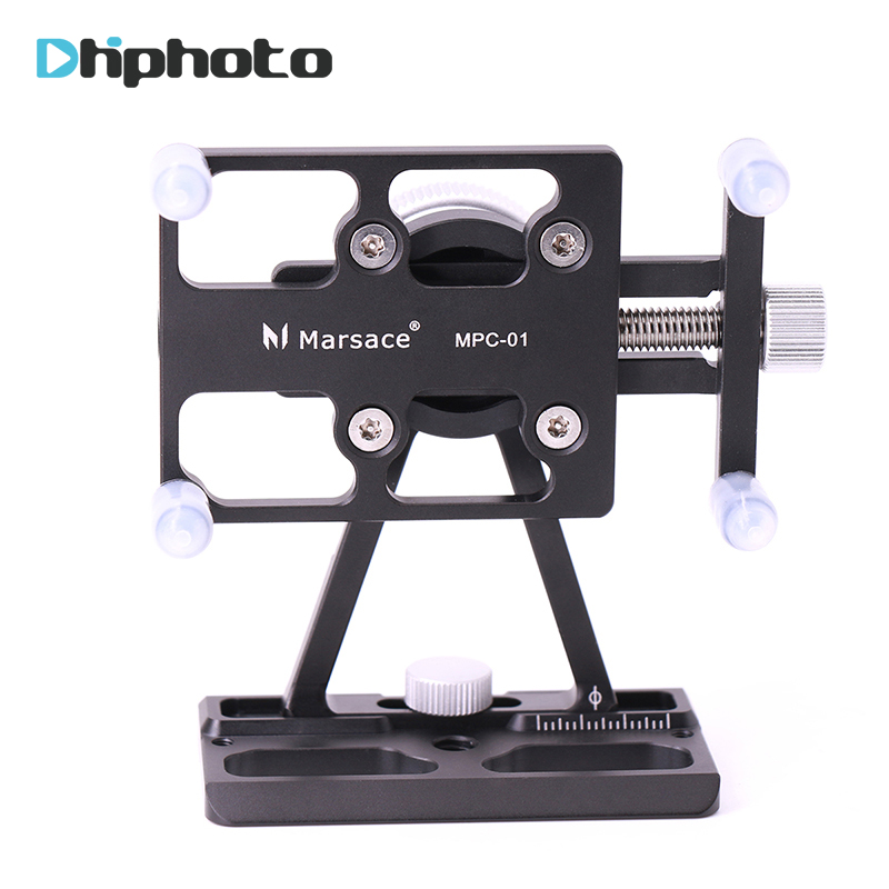 Smartphone Tripod Mount Adapter with Quick Release Plate for iPhone 7 plus Rotates Vertical and Horizontal Phone Tripod Holder universal cell phone holder mount bracket adapter clip for camera tripod telescope adapter model c