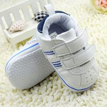 Toddler Boy Faux Leather Crib Shoes Soft Sole  Sneakers Size 0-18M