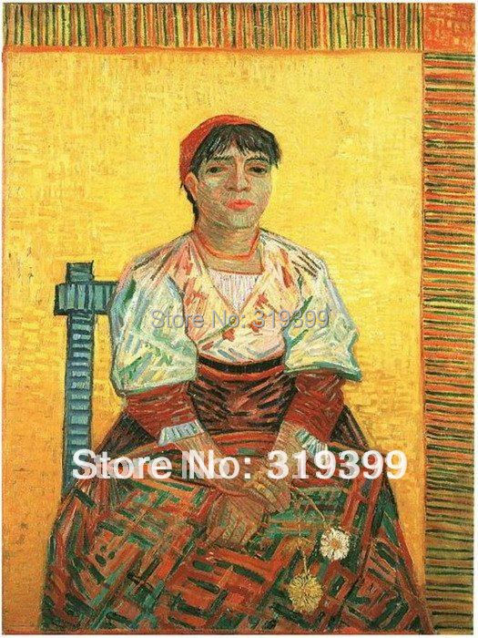 100% handmade Vincent Van Gogh Oil Painting reproduction,Italian Woman (Agostina Segatori),Museum quality,Free DHL or FeDeX100% handmade Vincent Van Gogh Oil Painting reproduction,Italian Woman (Agostina Segatori),Museum quality,Free DHL or FeDeX