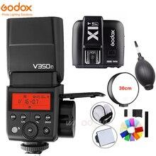 Godox V350F TTL HSS 1/8000 s 2.4G Sem Fio Speedlite Flash Embutido 2000 mAh Bateria Li-ion com X1T-F transmissor para Câmera Fuji