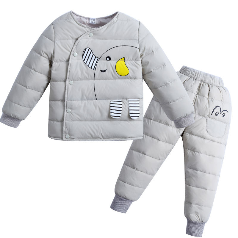BINIDUCKLING Winter Children Clothing Sets Duck Down Jacket Sets Baby Girls & Baby Boys Down Coats Set With Pants Kids Clothes lonsant clothing sets children winter