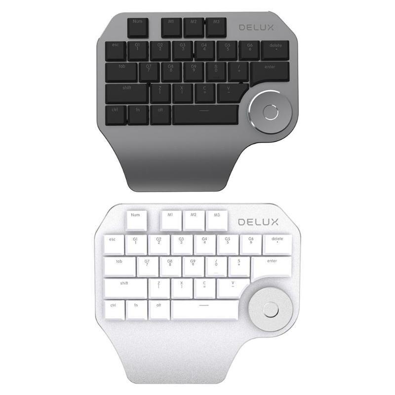 Delux T11 clavier filaire clavier Design rétro-éclairage clavier mécanique dessin clavier pour Wacom Windows Mac logiciel de conception