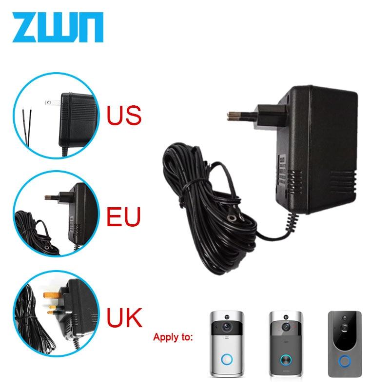Eua reino unido da ue plugue 18 v ac transformador carregador para wifi sem fio campainha câmera adaptador de alimentação ip vídeo porteiro anel 110 v-240 v