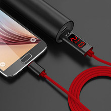 QC 3,0 cargador de Cable Micro USB Cables de pantalla Micro + tipo C + 8 Pin Cable de datos para iPhone 5 6 7 para teléfono Android(China)