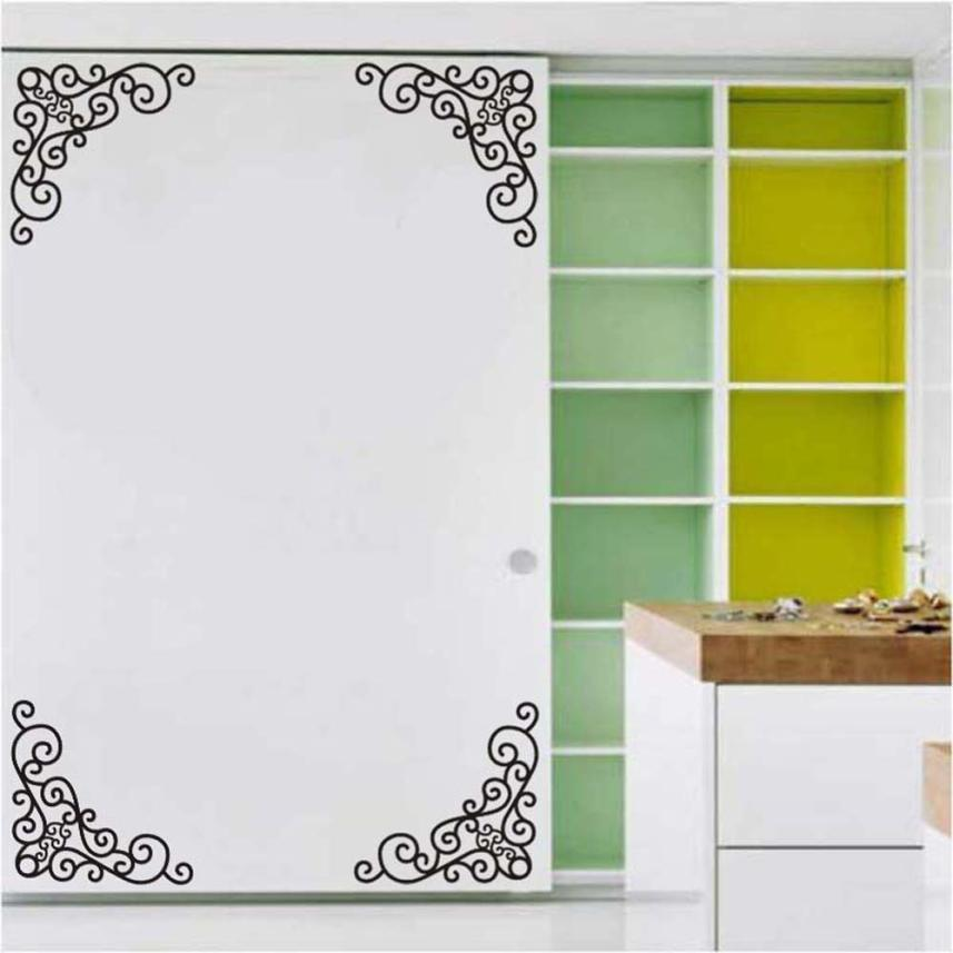 4Pcs DIY Wall Decal Decor Window Bath Room Mirror Art Sticker Removable Paper ...