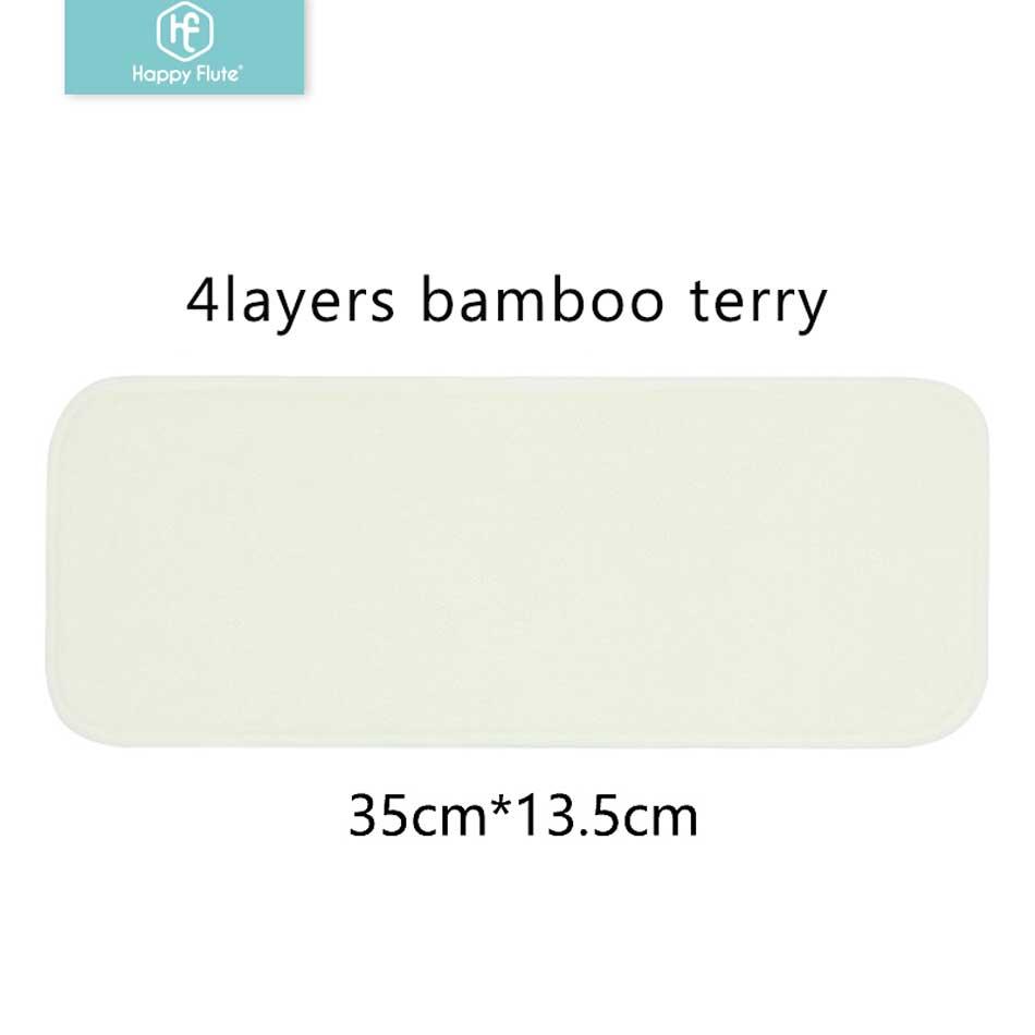 Image 2 - 4 слойная бамбуковая вставка для подгузников Happy Flute, 5/10 шт., моющаяся ткань из натурального бамбукаhappy flutebamboo liner4 layers bamboo -