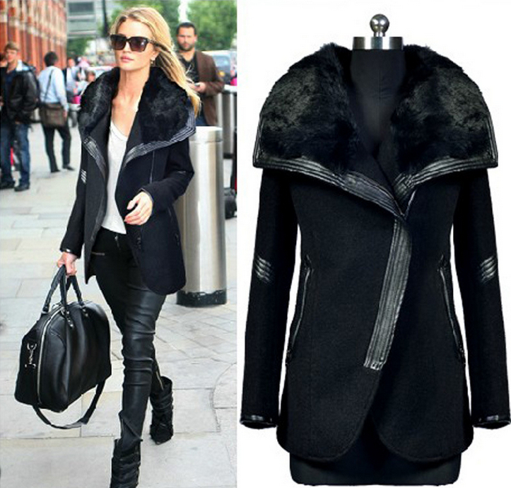 Aliexpress.com : Buy new 2014 women clothing wool jacket faux fur ...