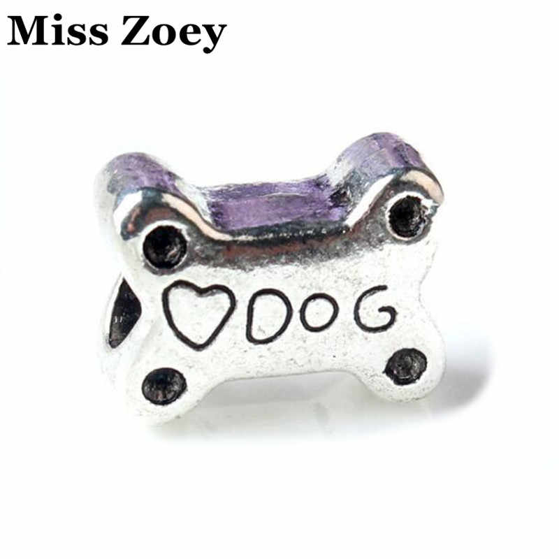 Ad007 10 Alloy Antique Silver Plated Metal Love Dog Bone Shaped Spacer Beads Jewelry Findings Fit Charm Bracelets Bangle Diy Bangles Diy Spacer Beadsbeaded Jewelry Aliexpress