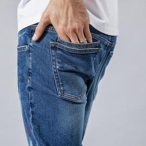 Image 3 - SIMWOOD 2020 spring winter new fashion letter print ankle length jeans men streetwear ripped hole hip hop denim pants 190202