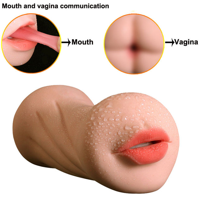 Realistic Vagina Hand Vibrator Oral Tongue Teeth