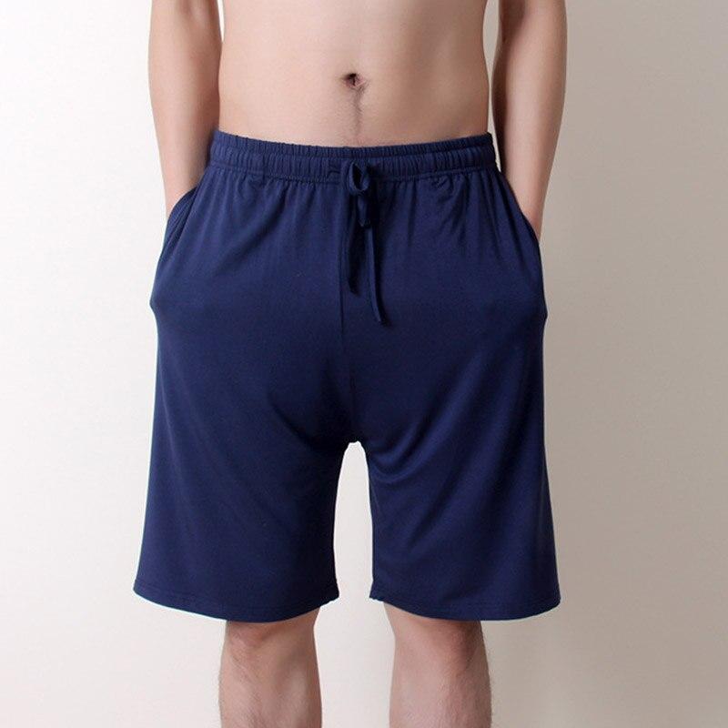 Pajamas Sleeping-Shorts Knee-Length Plus-Size Summer 5XL Modal Thin Loose Casual Homme