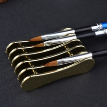 1 Piece Metal Nail Art Brush Holder Pen Displayer Stand Tools Acrylic UV Gel Brush Rest Holders For Nail Art Decorations 5 Grids