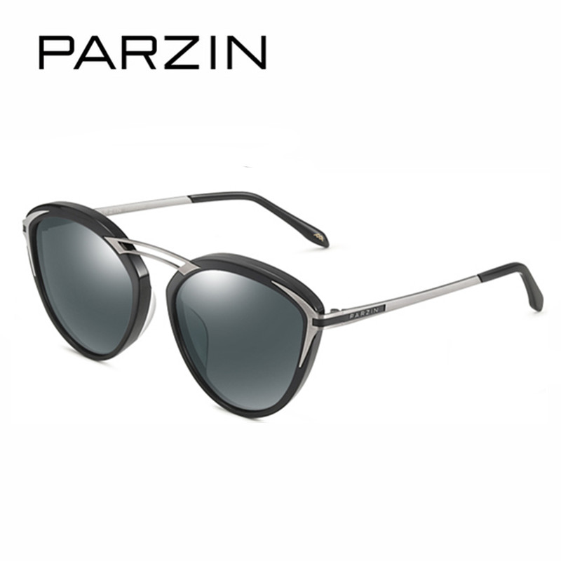 PARZIN Vintage Cat Eye Sunglasses Women Polarized Sun Glasses Handmade Acetate Ladies Shades For Driver +Packing Box 9755