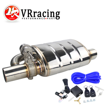 цена на Stainless Steel 2.5 or 3 IN/OUT Tip On Single Exhaust Muffler Dump Valve Exhaust Cutout with Wireless Remote Controller Set