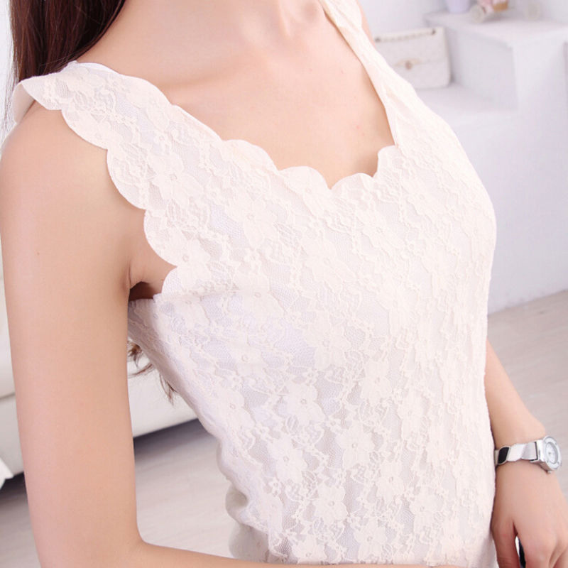 Women   Tank     Tops   Fashion Black Lace Women's   Tank   Crochet Embroidery Fitness Summer Casual Camisole Sleeveless Shirt For Female