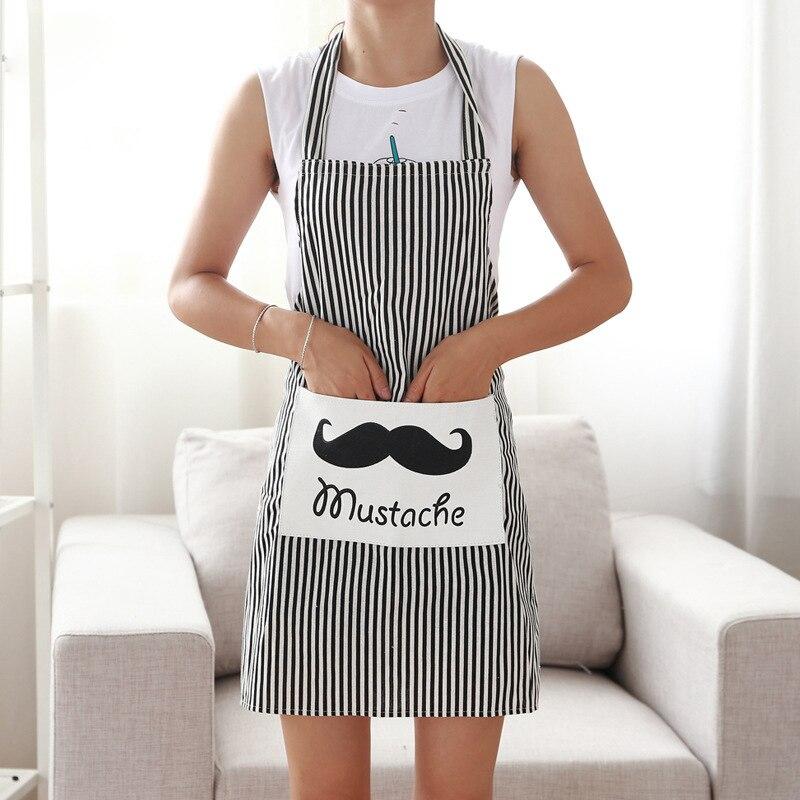 Baumwolle Bettwäsche Verstellbare Schürze Lätzchen Uniform Mit Große Taschen Friseur Salon Haar Werkzeug Chef Kellner Küche Kochen Werkzeug