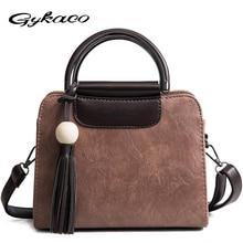 Gykaeo Winter Female Fashion Tote Bags Handbags Women Famous