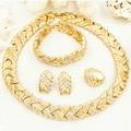 Liffly de novia de moda Dubai oro conjuntos de joyas para las mujeres traje collar pendientes nigeriano boda Africana perlas joyería conjunto