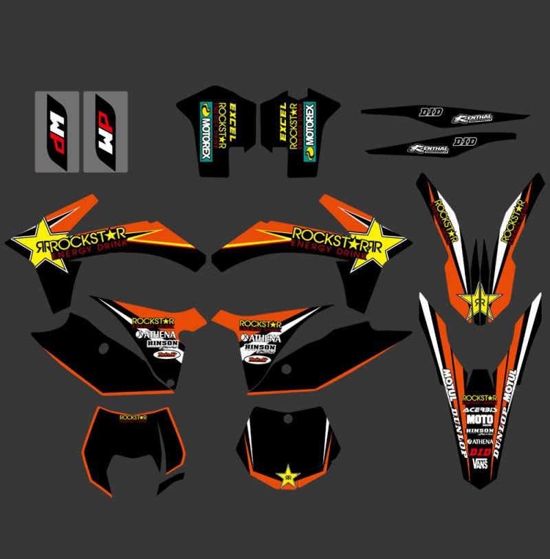 GRAPHICS WITH MATCHING BACKGROUNDS Sticker For KTM SX XC XCW XCF SXF XCF-W XC-W XC-F SX-F 125 150 200 250 350 450 500  0322 star new team graphics with matching backgrounds fit for ktm sx sxf 125 150 200 250 350 450 500 2011 2012