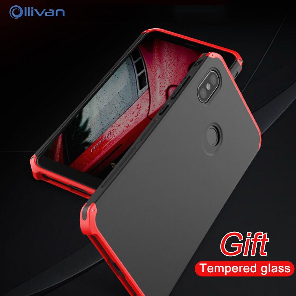 RedMi Nota 5 caso a prueba de choques de la armadura de Metal marco de aluminio de la PC dura de la cubierta del teléfono para XiaoMi Xiomi Redmi Note 5 pro Note5 Funda