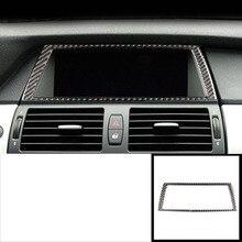 lsrtw2017 carbon fiber car dashboard navigation frame trims for bmw x5 x6 2006 2007 2008 2009 2010 2011 2012 2013 цена и фото