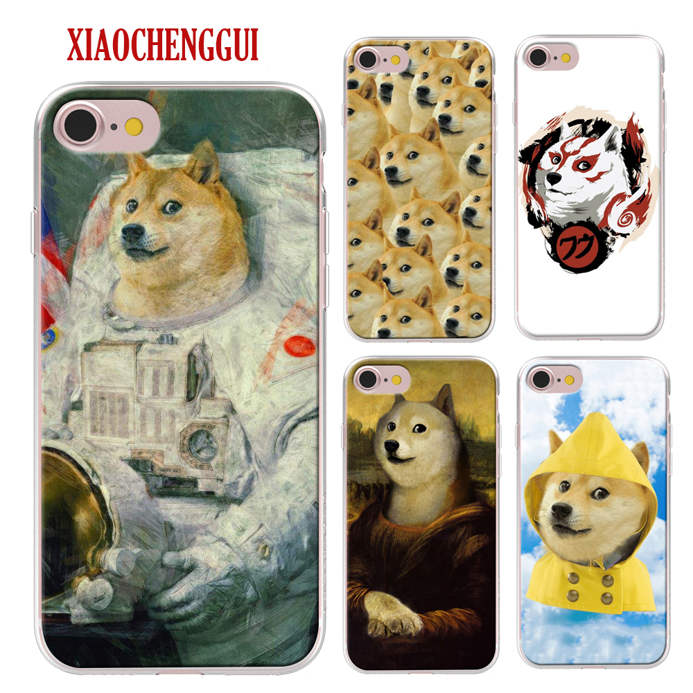 Doge Meme Kabosu Cute funny Coque For Apple iPhone X 8Plus 8 7Plus 7 6Plus 6s 5 5S SE Mobile Phone Soft silicone Case Cover Bag image