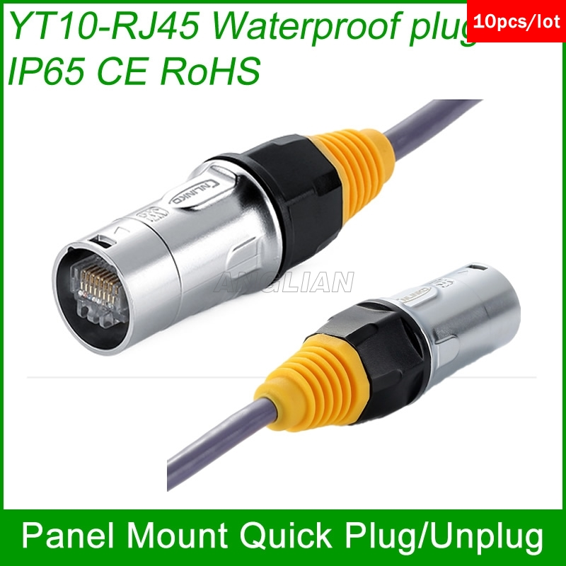 Pleasing Rj45 Plug Socket Screw Type Cat5E Waterproof Connector Panel Mount Wiring Database Gramgelartorg