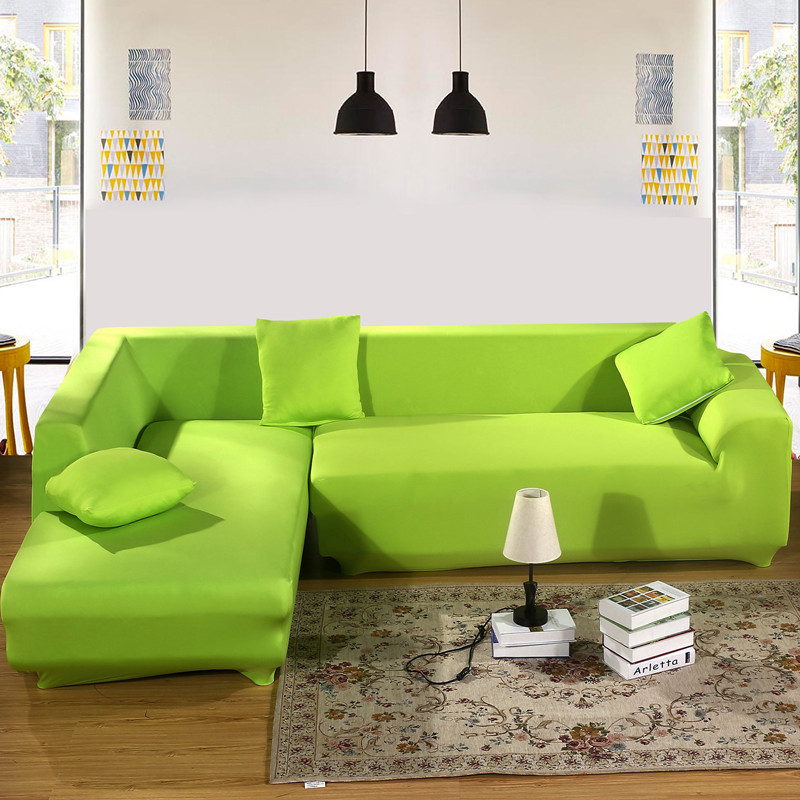 Green Color All Inclusive Slipcover Stretch Fabric Elastic Sofa Cover Single Two Three Four Seat Home Decor In From