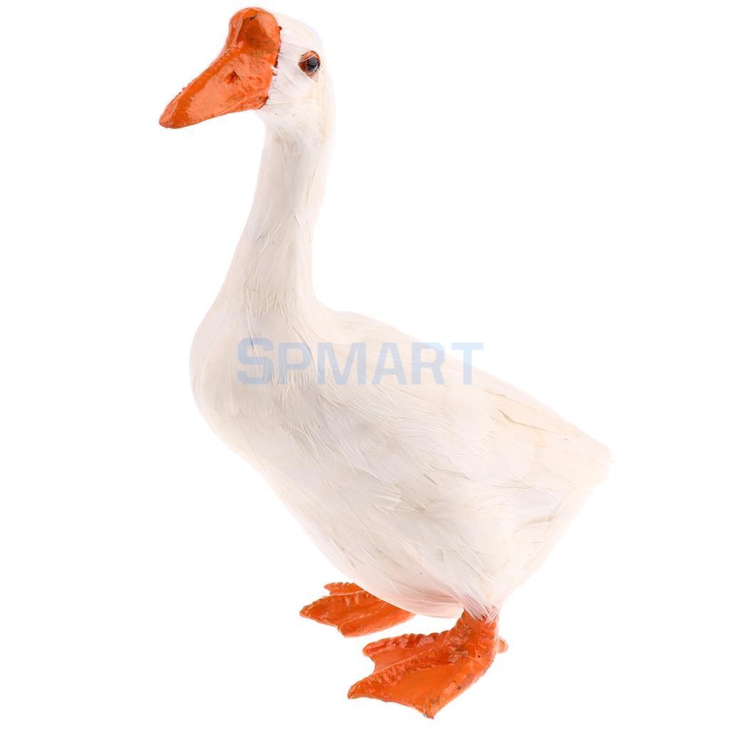 Simulation Standing Farm Goose Animal Model Home Decor Handicrat - Medium