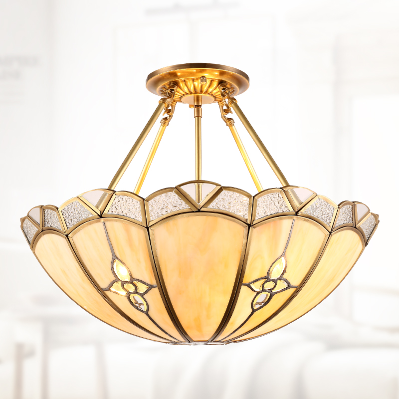 glass all copper European style hotel decoration living room  romantic bedroom creative restaurant lamp ZH ZL318 lo1020 european style living pendant lamps room bedroom dining room entrance hall marble lamp full copper pendant light zh