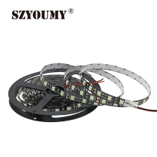 SZYOUMY 5050 SMD 300 LEDS LED Strip Light Non-waterproof 60 Leds/m Flexible Led String Black PCB Ribbon Tape Lamp 2 PCS 5M