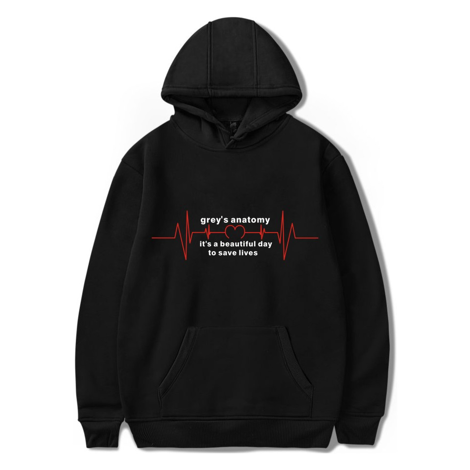 Gray's Anatomy Hoodie Unisex Pullover Graphic Print Hoodies Sweatshirt Tumblr Greys Anatomy Gifts Fashion Jacket Coat Plus Size
