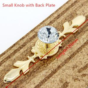 Image 4 - Glass Dresser Knob Crystal Drawer Knobs Handle Gold Clear Rhinestone Cabinet Door Handle Back Plate furniture hardware