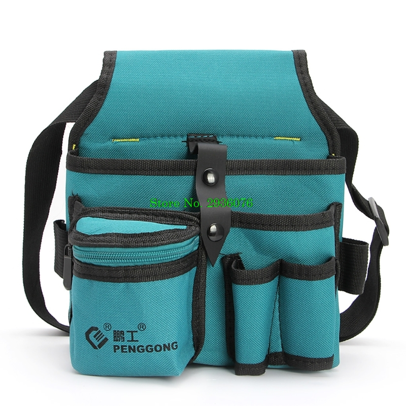 Oxford Cloth Durable Waterproof Tools Container Storage Waist Bag With Belt,Electrical Tools Bag 24x20cm/9.45x7.87 oxford cloth durable waterproof tools container storage waist bag with belt electrical tools bag 24x20cm 9 45x7 87