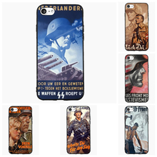 Vintage WW2 Soldier Retro Cell Phone Case For iPhone 5 6 7 s Plus For Samsung Galaxy S J A OnePlus Cover Shell Accessories Gift