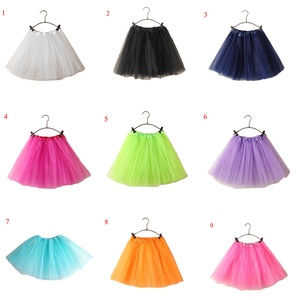 Image 3 - Классическая Женская фатиновая юбка длиной 15 дюймов, эластичная юбка пачка, однотонная Милая балетная юбка с высокой талией для малышей, синяя, розовая, розовая