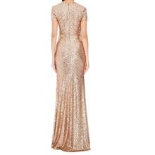 Honey Qiao Black Gold Sequin Mermaid Bridesmaid Dresses High Back Long 2016 Navy Blue Maid of Honor Gowns Vestido De Festa